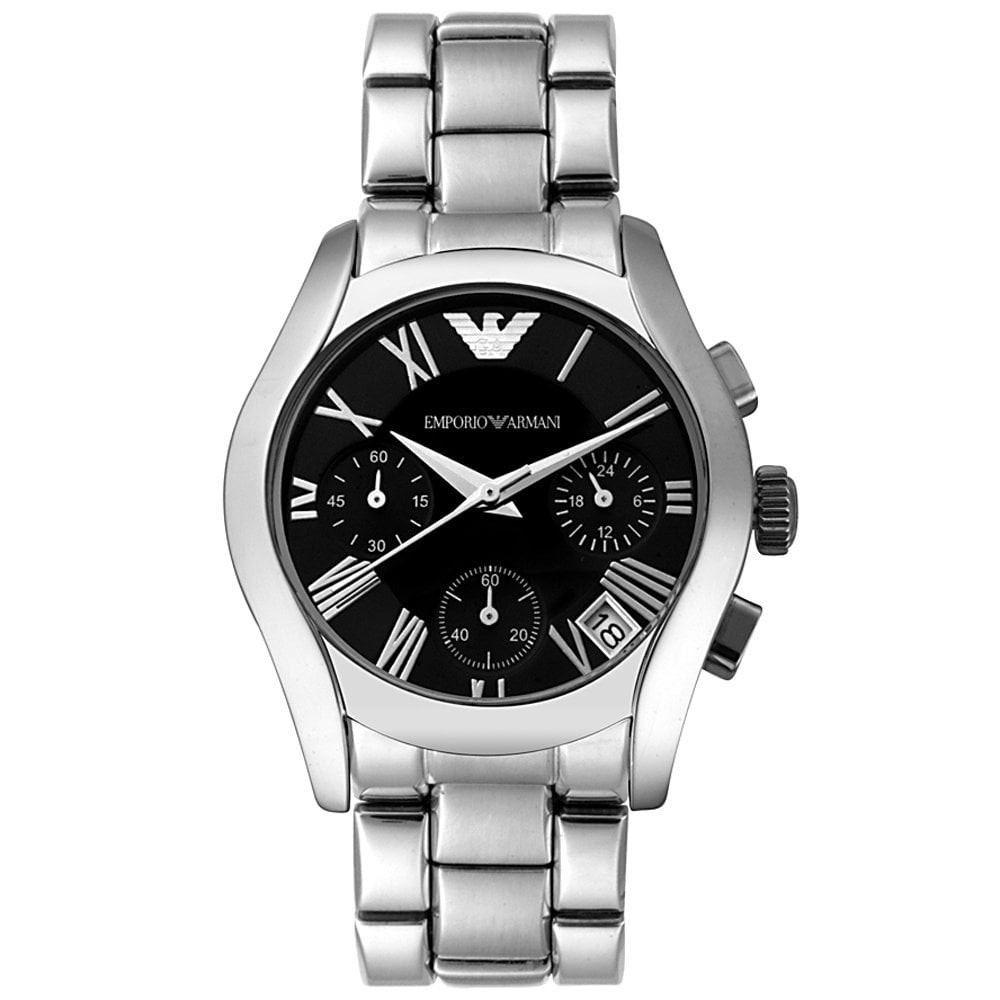 5b84ba1cd Emporio Armani Ladies Chronograph Silver Watch AR0674