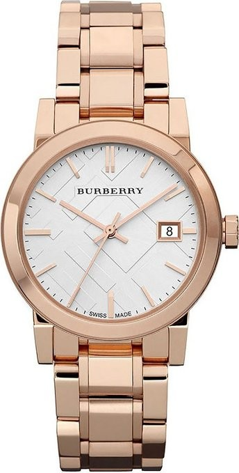 Burberry Ladies The City Rose Gold Watch BU9104