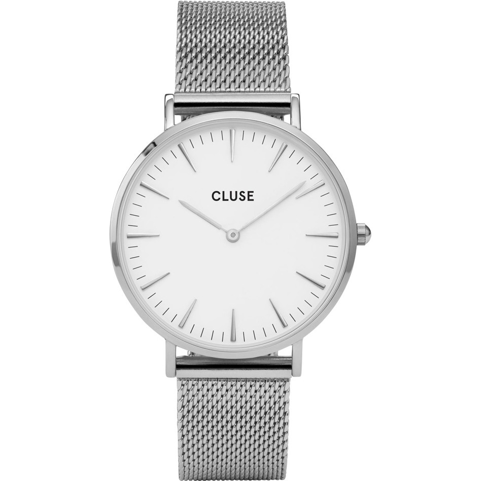 Cluse Ladies La Boheme Silver Mesh Watch CL18105