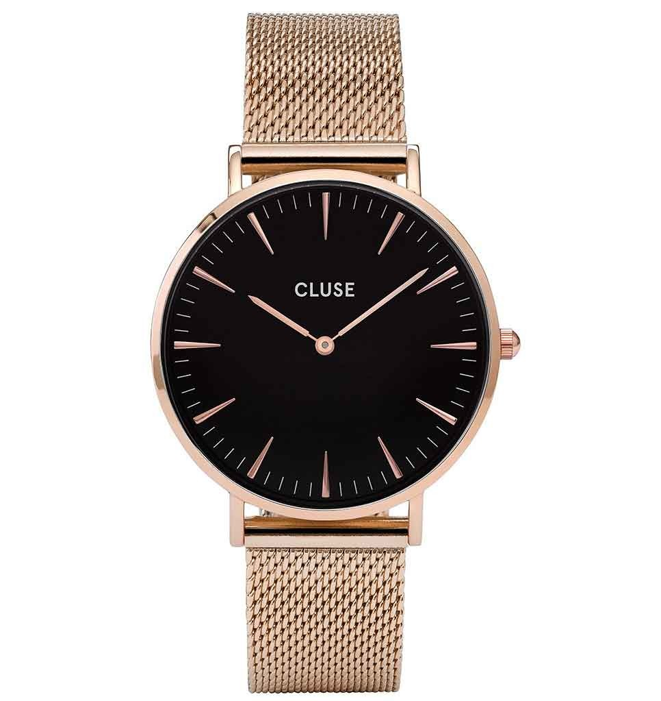 Cluse Ladies La Boheme Rose Gold Mesh Watch CL18113