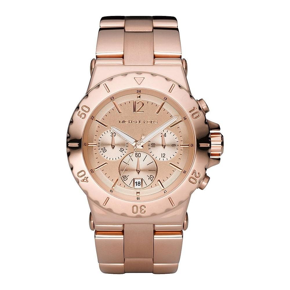Michael Kors Ladies Rose Gold Dylan Chronograph Watch MK5314