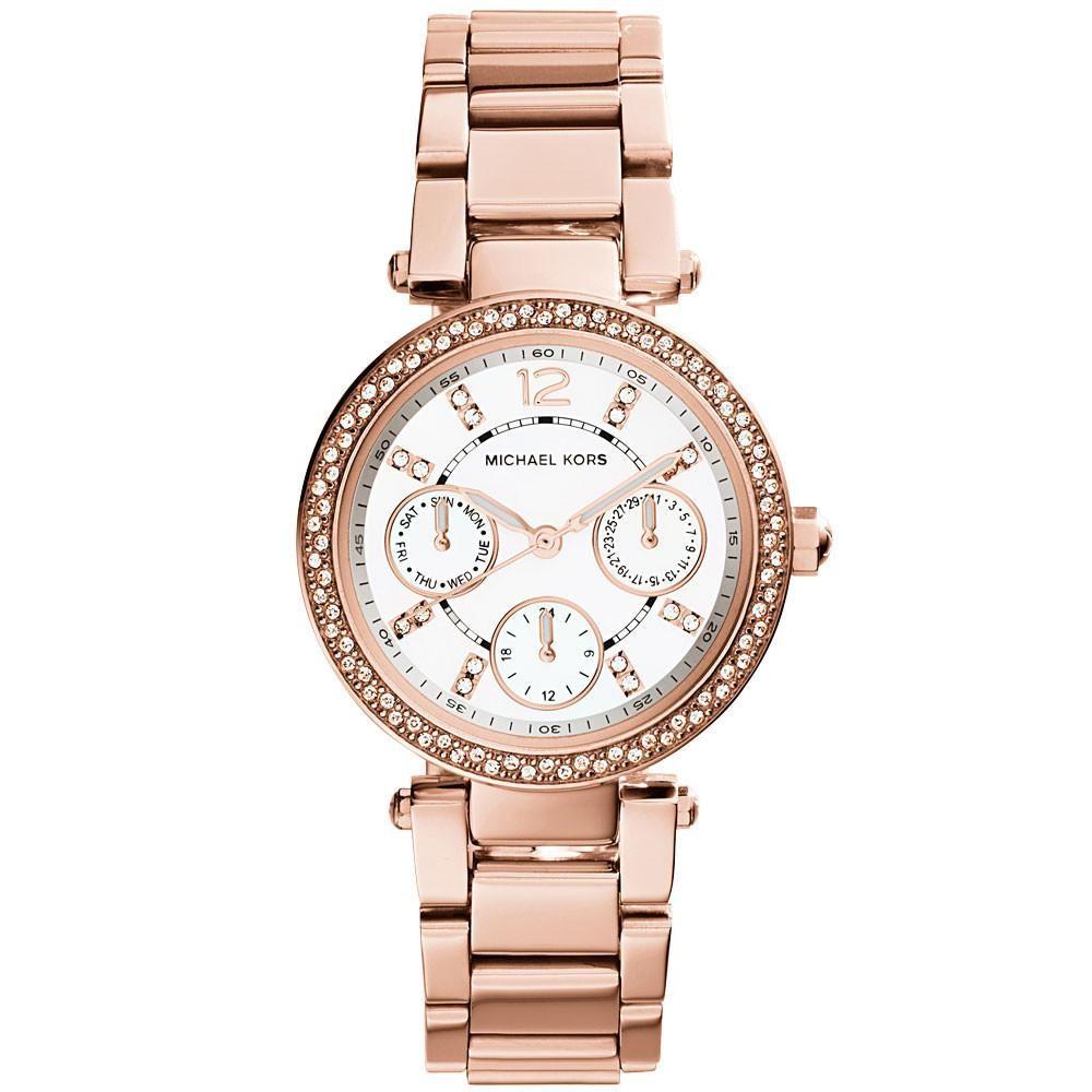 Michael Kors Ladies Mini Parker Rose Gold Watch MK5616