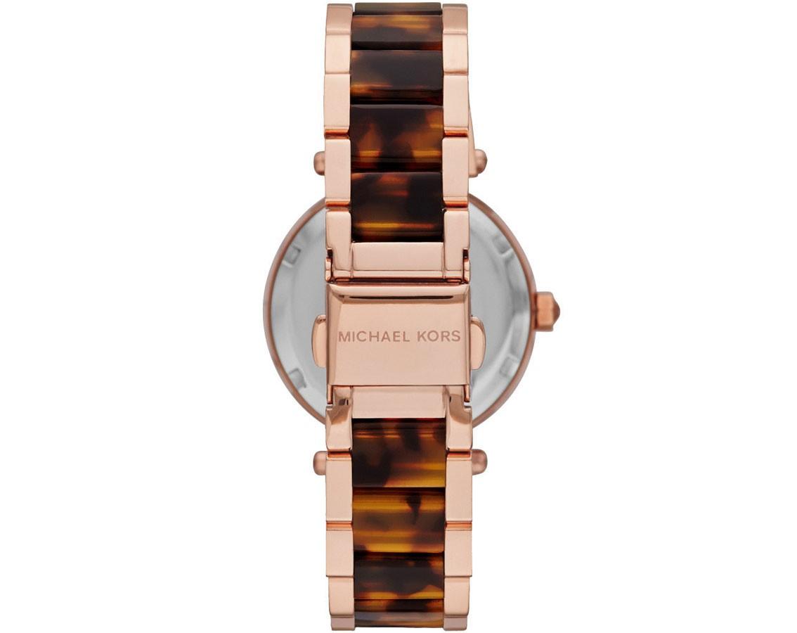 f3cdf0a93868 Michael Kors Ladies Rose Gold Mini Parker Watch MK5841