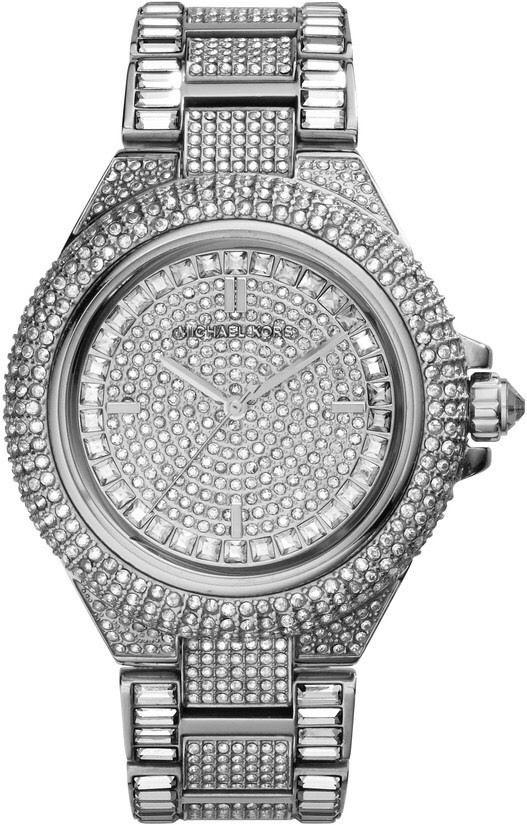 506912b1b6ee Michael Kors Ladies Portia Pavé Silver Mesh Watch. Michael ...