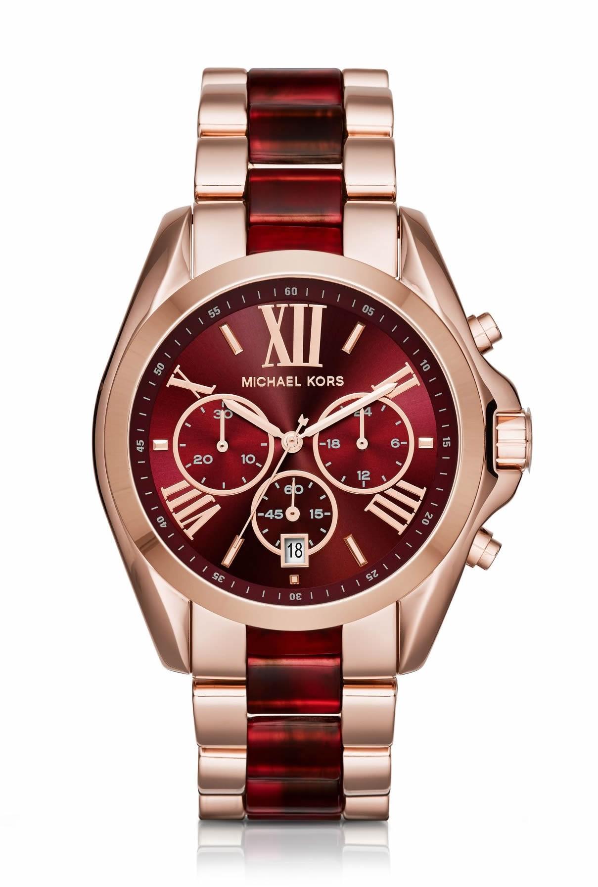 Michael Kors Ladies Rose Gold Bradshaw Watch Mk6270