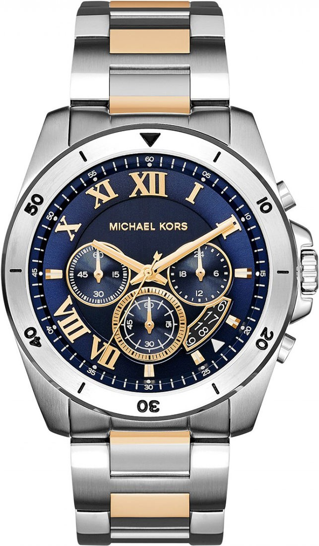 Michael Kors Mens Chronograph Stainless Steel Brecken Watch MK8437