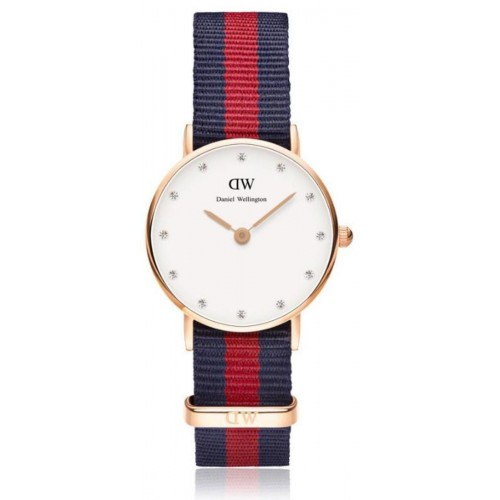 Daniel Wellington Ladies Blue & Red Oxford Watch 0905DW