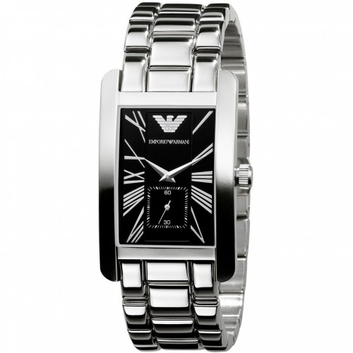 Emporio Armani Mens Stainless Steel Rectangle Watch AR0156