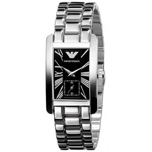 Emporio Armani Ladies Stainless Steel Rectangle Watch AR0157