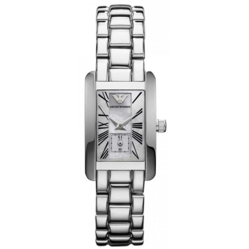 Emporio Armani Ladies Stainless Steel Rectangle Watch AR0171