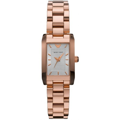 Emporio Armani Ladies Donna Rose Gold Watch AR0361