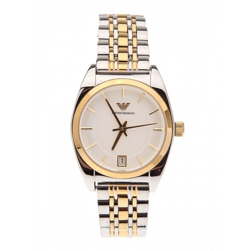 Emporio Armani Ladies Silver & Gold Franco Watch AR0380