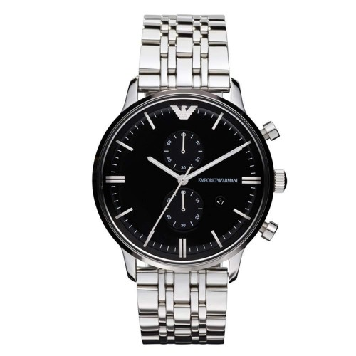 Emporio Armani Mens Silver Classic Watch AR0389