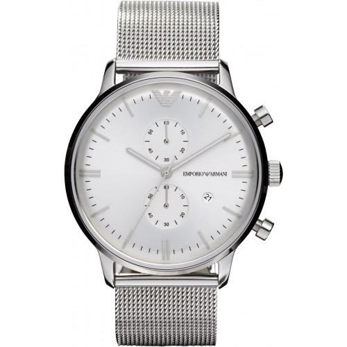 Emporio Armani Mens Silver Classic Watch AR0390