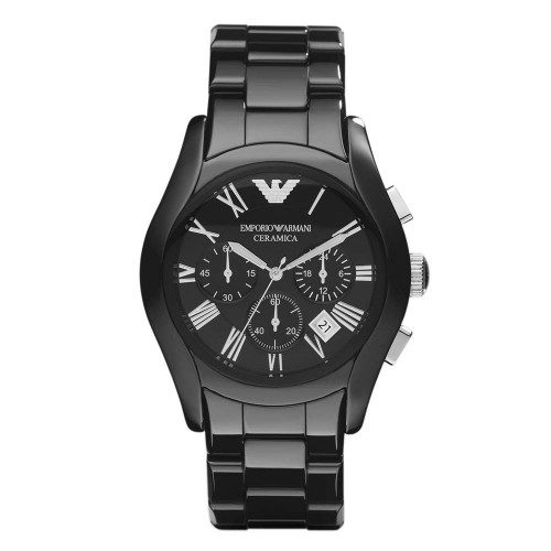 Emporio Armani Mens Black Ceramic Chronograph Watch AR1400