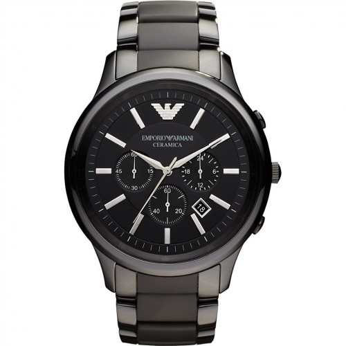 Emporio Armani Mens Black Ceramic Chronograph Watch AR1451