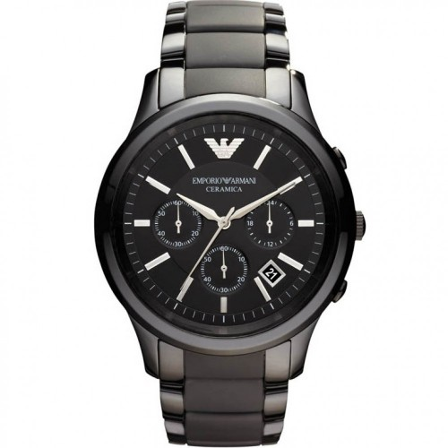 Emporio Armani Mens Black Ceramic Chronograph Watch AR1452