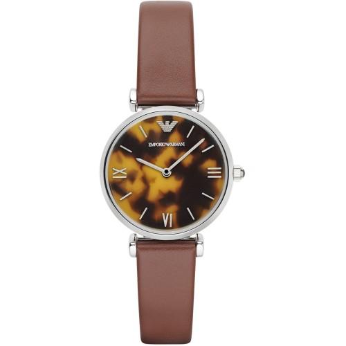 Emporio Armani Ladies Brown Leather Watch AR1873