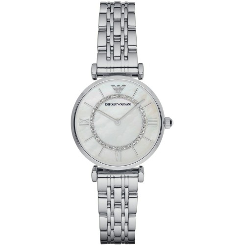 Emporio Armani Slim Ladies Silver Watch AR1908