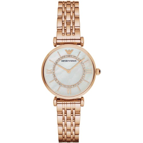 Emporio Armani Slim Ladies Rose Gold Watch AR1909