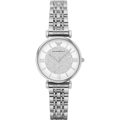 Emporio Armani Slim Ladies Silver Watch AR1925