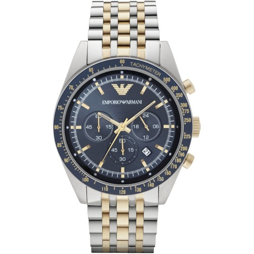Emporio Armani Mens Classic Silver & Gold Watch AR6088