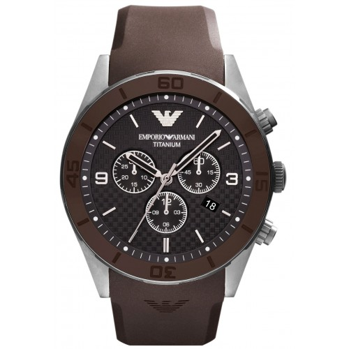 Emporio Armani Mens Titanium Chronograph Watch AR9501