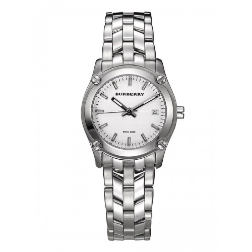 Burberry Ladies Stainless Steel Silver Watch BU1853