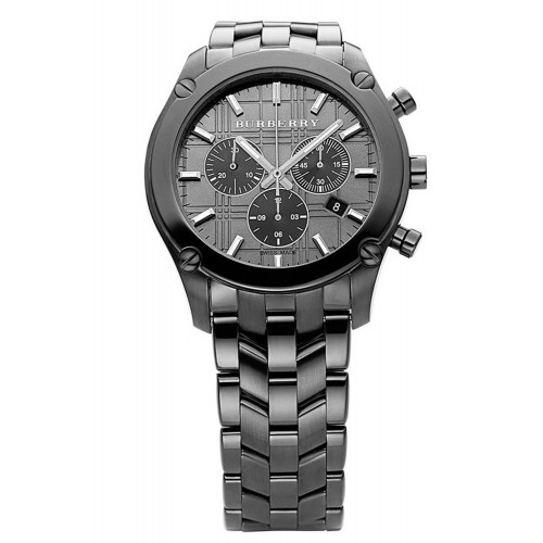 Burberry Mens Black Chronograph Watch BU1854
