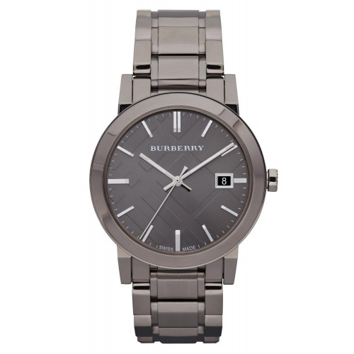 Burberry Mens The City Stainless Steel Black Watch BU9007