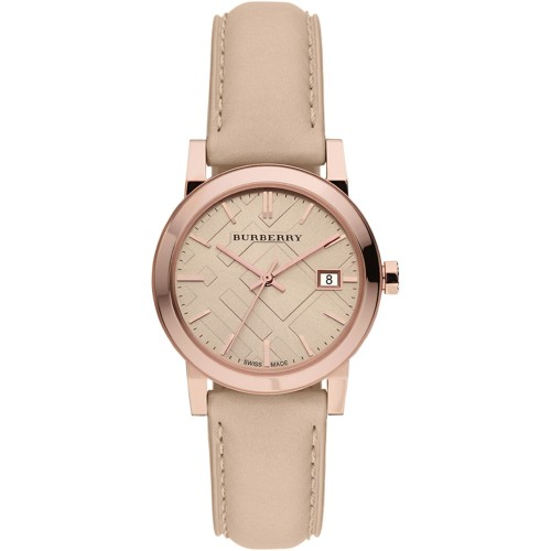 Burberry Ladies The City Cream Leather Watch BU9109