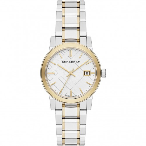 Burberry Ladies' The City Engraved Check Watch BU9115