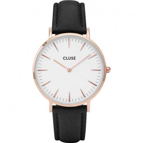 Cluse Ladies La Boheme Black Leather Watch CL18008