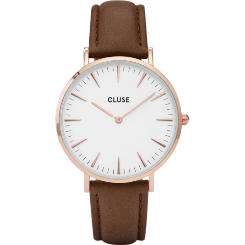 Cluse Ladies La Boheme Brown Leather Watch CL18010