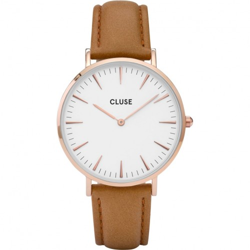 Cluse Ladies La Boheme Brown Leather Watch CL18011