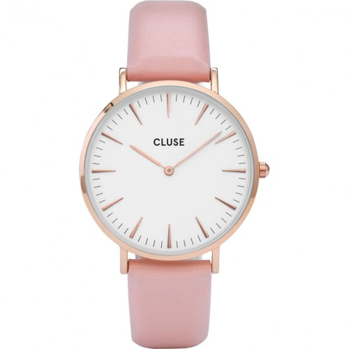 Cluse Ladies La Boheme Pink Leather Watch CL18014
