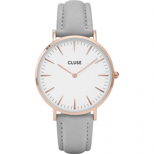 Cluse Ladies La Boheme Grey Leather Watch CL18015