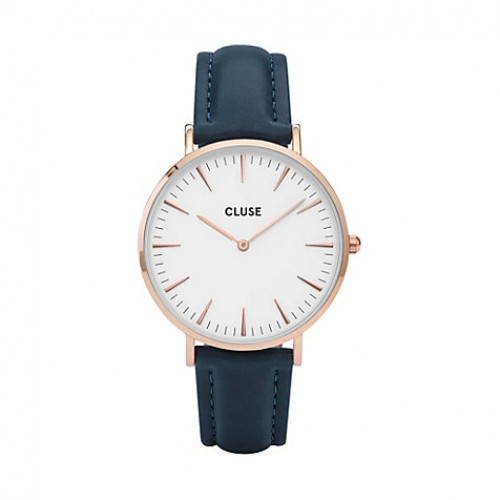 Cluse Ladies La Boheme Blue Leather Watch CL18016
