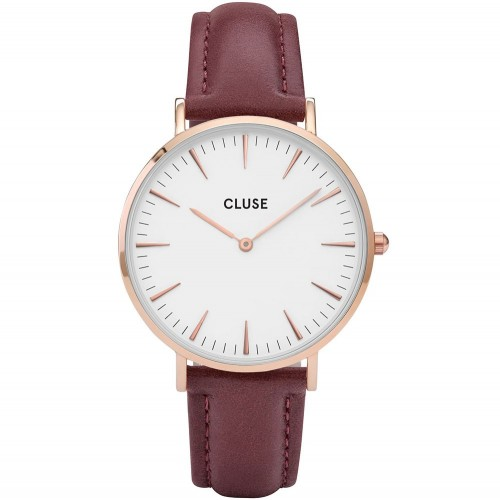 Cluse Ladies La Boheme Red Leather Watch CL18017
