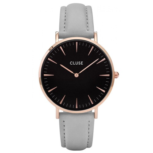 Cluse Ladies La Boheme Grey Leather Watch CL18018