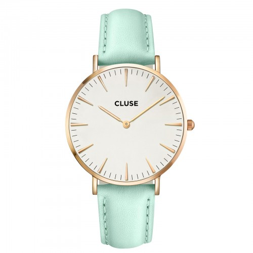 Cluse Ladies La Boheme Green Leather Watch CL18021