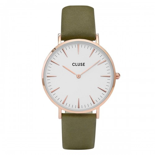 Cluse Ladies La Boheme Green Leather Watch CL18023