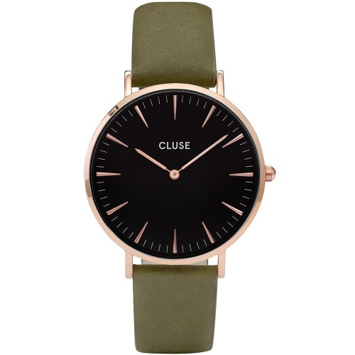 Cluse Ladies La Boheme Green Leather Watch CL18024