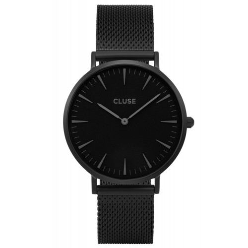 Cluse Ladies La Boheme Black Mesh Watch CL18111