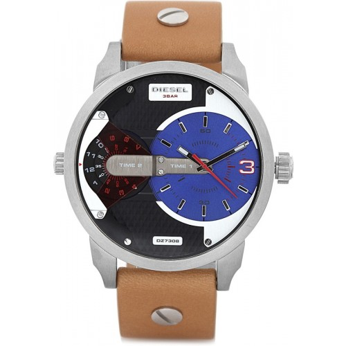 Diesel Mini Daddy Mens Brown Leather Watch DZ7308