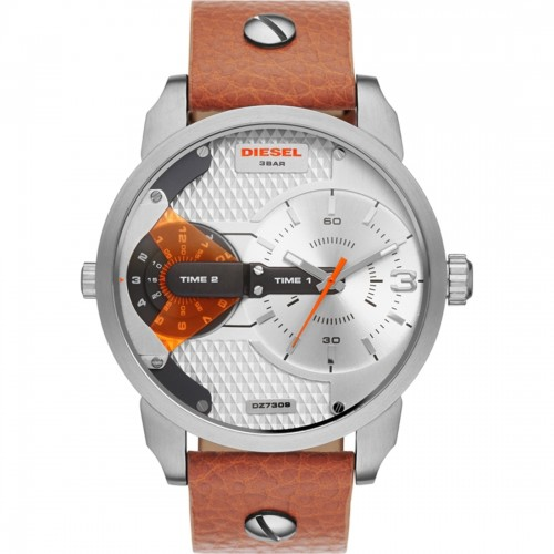 Diesel Mini Daddy Mens Brown Leather Watch DZ7309