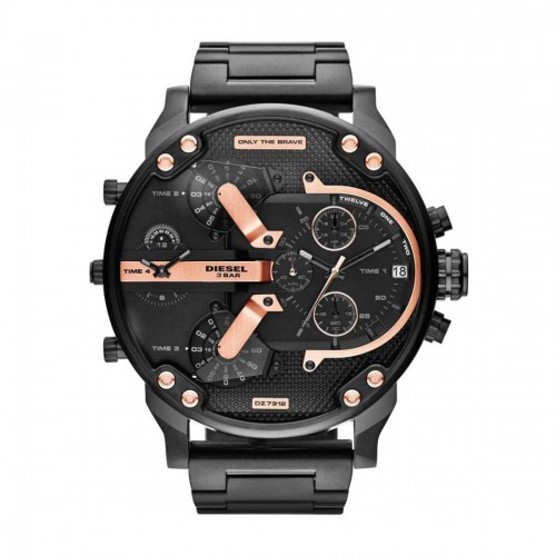 Diesel Mr Daddy Black Stainless Steel Chronograph Mens Watch DZ7312