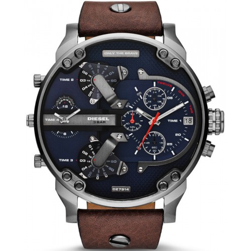 Diesel Mr Daddy Brown Leather Chronograph Mens Watch DZ7314