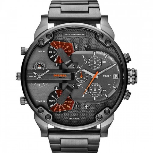 Diesel Mr Daddy Black Stainless Steel Chronograph Mens Watch DZ7315