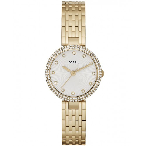 Fossil Ladies Olive Gold Watch ES3346